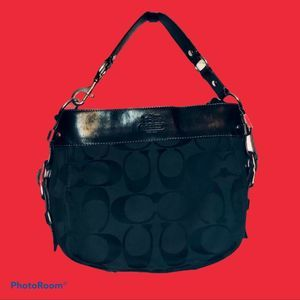Coach Bags - Black Coach Signature Hobo Shoulder Bag